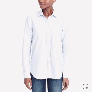 J. Crew Boyfit White Oxford Shirt